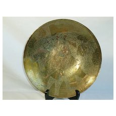 Middle Eastern Hand Hammered Brass Bowls