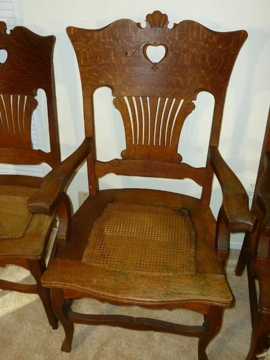 Golden Oak Chairs Quarter Sawn Oak Antiques - Golden Oak Chairs Quarter Sawn Oak Antiques SOLD Ruby Lane