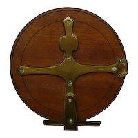 Antique Reuben Heaton Fishing Reel Wood and Brass