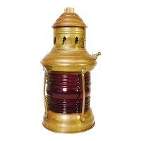 Brass Port Side Nautical Red Light Maritime Antique