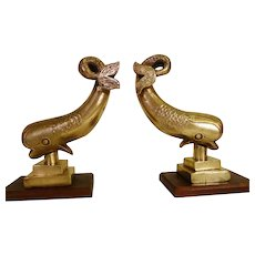 Bronze Garnitures or Bookends Heavy 21 lbs.