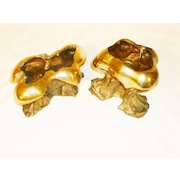 Oil Lamps Bronze/Brass Kuber Oil Lamps - Heavy Mid Century Modern