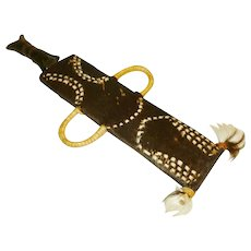 African Cameroon Ceremonial Knife with Sheath