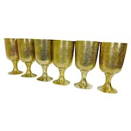 Brass Wine Goblets Water Cups