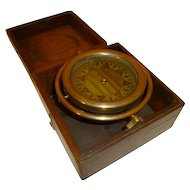 Nautical Antique Brass Compass Gimbaled