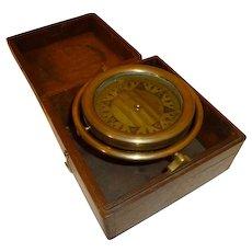 Nautical Antique Brass Compass Gimbaled