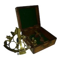 Antique Sextant Nautical Instrument Original Case