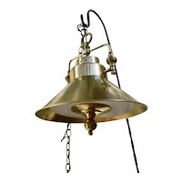 Brass Vintage Game Table/ Card Table Light