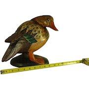 Hand crafted wood duck decoy / decoy / sculpture