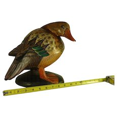 Hand crafted wood duck decoy / decoy / sculpture