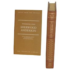 Sherwood Anderson, Leather Bound Books, Winesburg Ohio, Collectors Edition