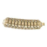 Sperry Silver tone chuncky costume  jewelry bracelet