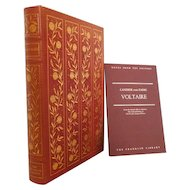 Voltaire, Candide and Zadig Leather Bound Franklin Library