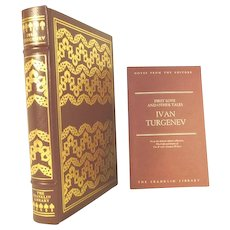 Ivan Turgenev Leather Bound Franklin Library