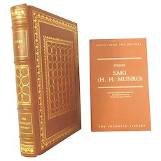 SAKI (H. H. Munro) Leather Bound Book Franklin Library Limited Editions