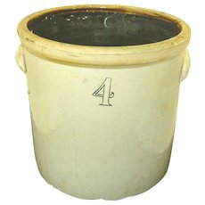 4 Gallon Pickle crock antique storage crock