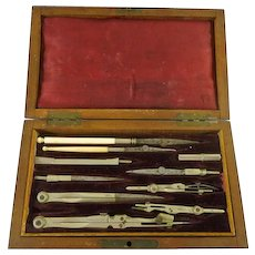 Antique Engineer Drafting Tool Set