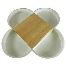 Mid-Century Modern Dansk Appetizer Tray with Cutting Board