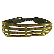 Vintage Brass and Leather Belt