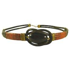 Vintage Ladies Leather Belt size 30