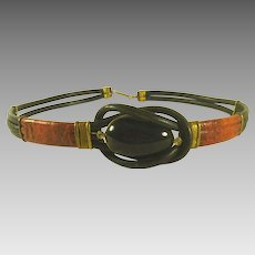 Vintage Ladies Leather Belt size 30