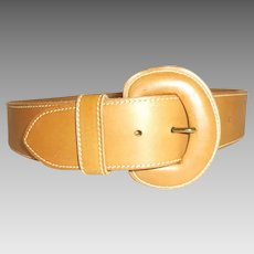 Cipriani Unisex Tan Genuine Leather belt size 29 - 33