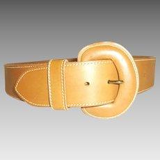 Cipriani Unisex Tan Genuine Leather belt size 29 - 33