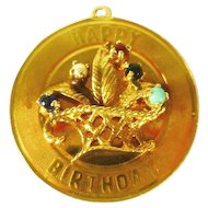 Baby Carriage Charm 14 Kt Gold Large Cliffwood Antiques