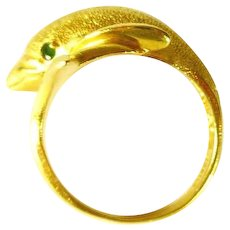 14 kt  Gold Plated Dolphin Ring
