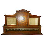 Antique Billiards / Snooker / Pool Scoreboard