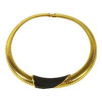 Gold Tone Monet Choker / Necklace Vintage MCM