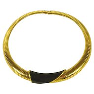 Gold Tone Monet Choker / Necklace Vintage