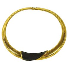 Gold Tone Monet Choker / Necklace Vintage