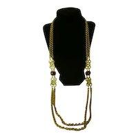 Vintage Swarovski necklace gold tone