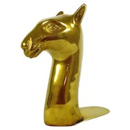 Brass Sphynx Cat Bookend with friend