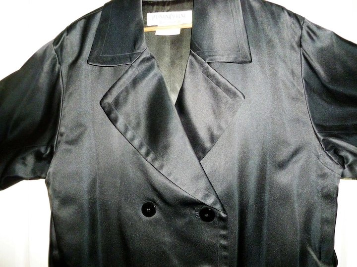b7d68312def Yves Saint Laurent Silk Trench Coat Double Breasted reduced ...