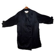 Yves Saint Laurent Silk Trench Coat Double Breasted reduced