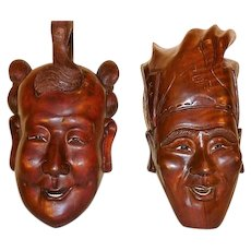 Masks Oceanic Hand Carved Wood Masks