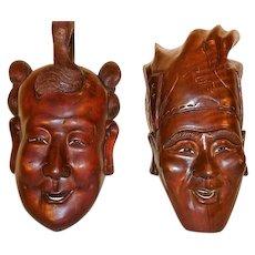 Masks Oceanic Hand Carved Wood Masks