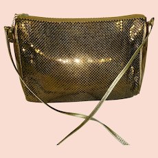 Vintage Whiting and Davis Gold-Tone Metallic Purse