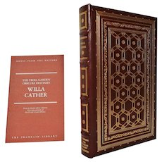 Willa Cather Leather Bound Book The Troll Garden, Obscure Destinies