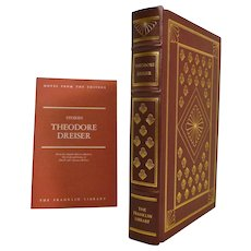 Theodore Dreiser The Best Short Stories Leather Bound Book New Condition