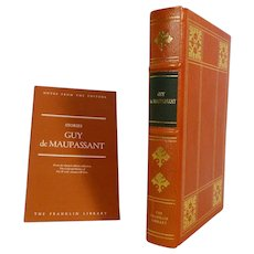 Guy de Maupassant Leather Bound Book Stories