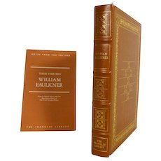 William Faulkner Leather Bound Book  These Thirteen