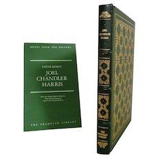 Joel Chandler Harris Leather Bound Book Uncle Remus