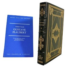 Gustave Flaubert Leather Bound Book Three Tales