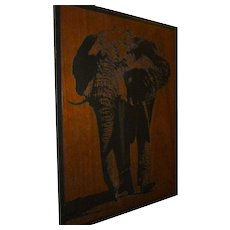 Elephant Wood Cut Out