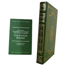 Thornton Wilder, Three Stories Leather Bound Book