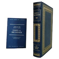 James A. Mitchener Tales of the South Pacific Leather Bound Book