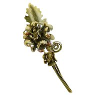 Raffaele Sterling Flower Bouquet Brooch
